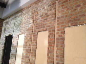 Steel-backed bricks
